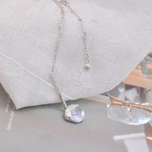 Henri Bendel Crystal Zircon Y-Shaped Necklace